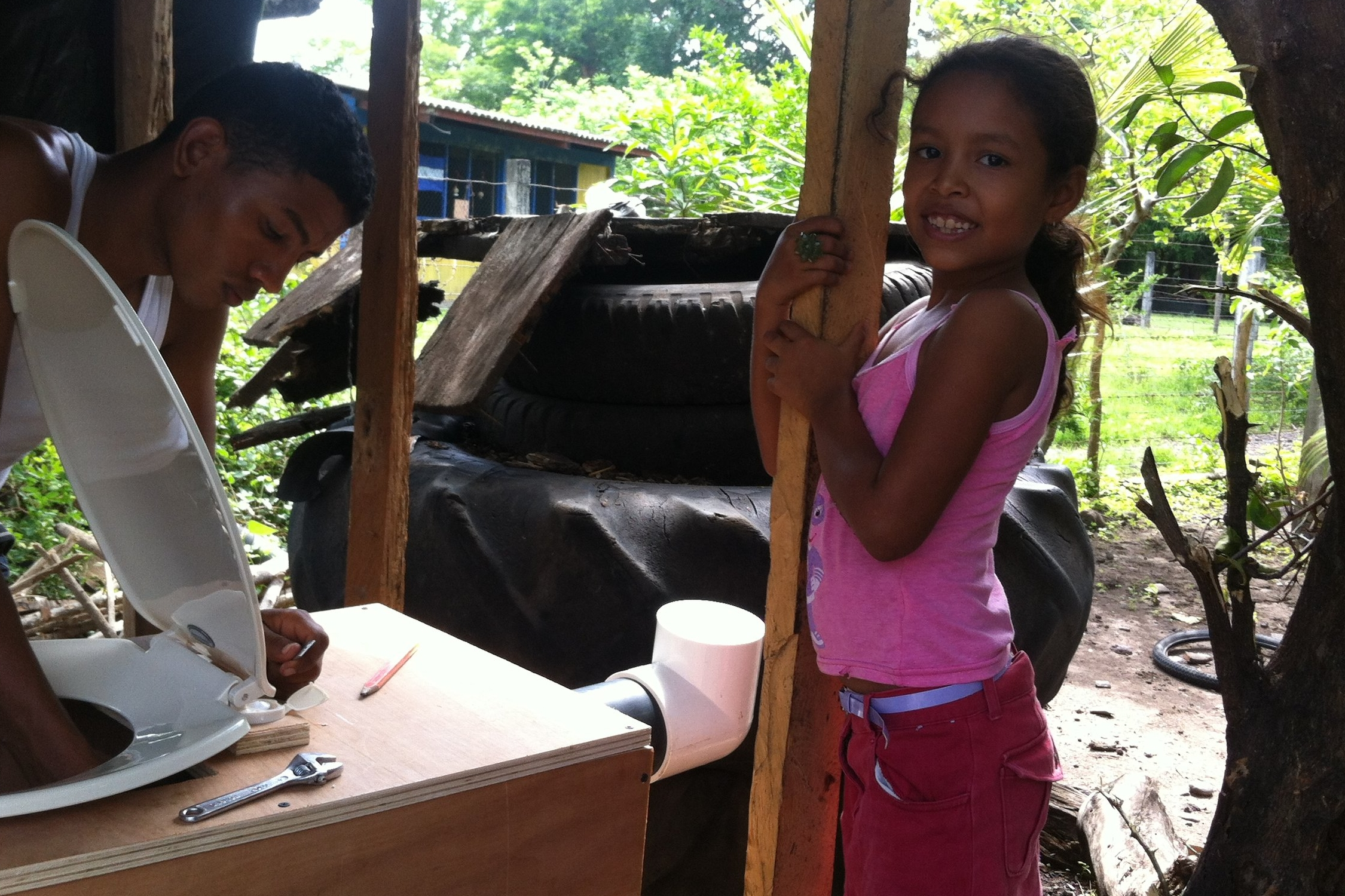 La Palma, Nicaragua - In 2014 TFP, along with local craftsmen and our NGO partner El Porvenir, installed 3 composting toilets for 3 local families.