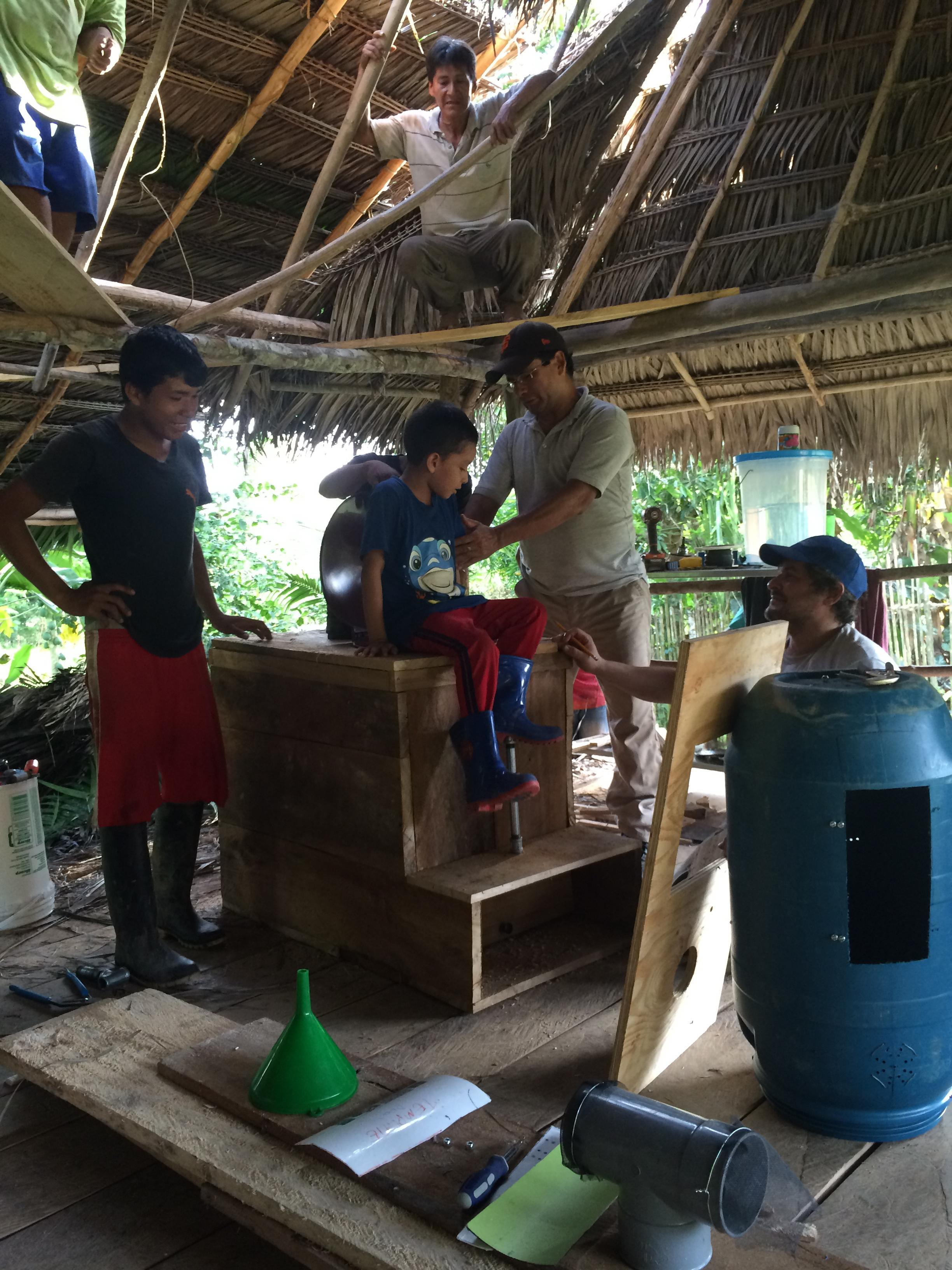 Jalder, Peru - In 2016 TFP, along with local craftsmen and our NGO partner Amazon Promise, installed of 2 high capacity composting toilets at a pre-school.