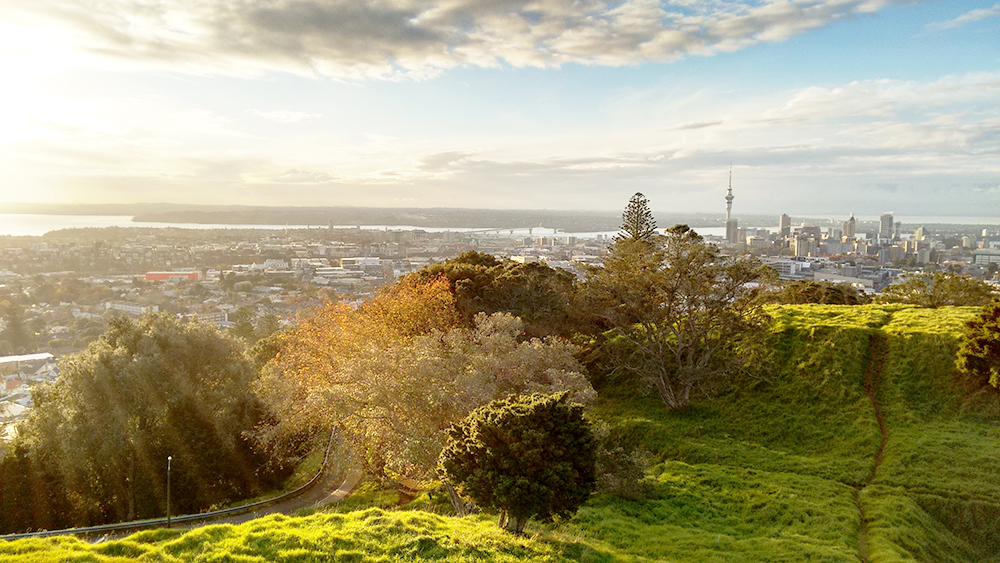 The view from Mount Eden to Auckland City in Autumn.  Read more about Propellerhead and New Zealand here >>