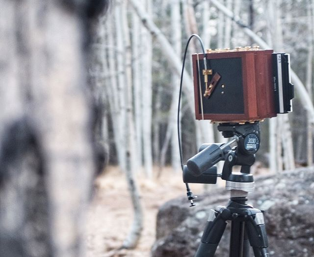 I had a chance this morning to dust off the #zeroimage 4x5 pinhole camera during a trip up to Flagstaff. I think I might have to have a film processing night sometime this week. #istillshootfilm #filmphotography #film #zeroimagepinhole #zeroimage4x5