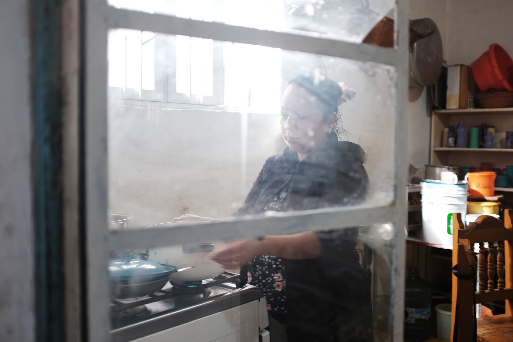 Guadalupe de Rayos, 36, cooks breakfast at her mother's home in Acambaro, Mexico. She was deported to Mexico on Feb. 9, 2017 the day after she had gone to the Phoenix offices of Immigration and Customs Enforcement for what until then had been a routine check-in.