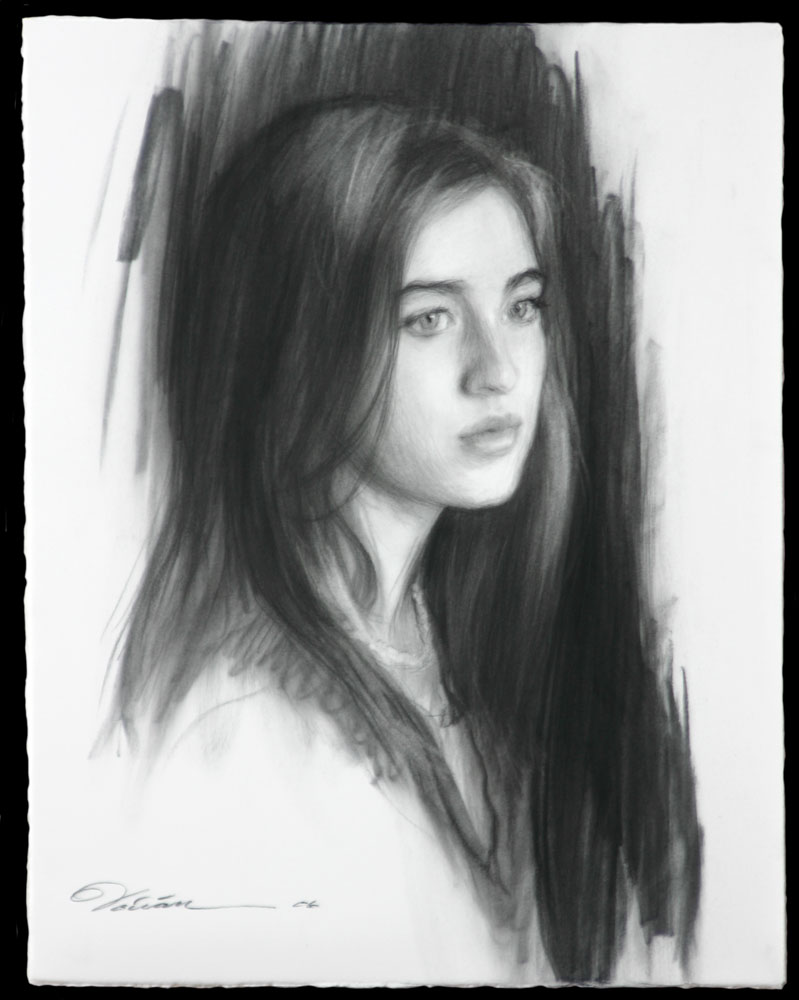 Charcoal Portrait Drawing - From Life
