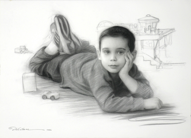 """Full Figure $2500 From Life - $3000 From Photo size: 22"""" x 30"""""""