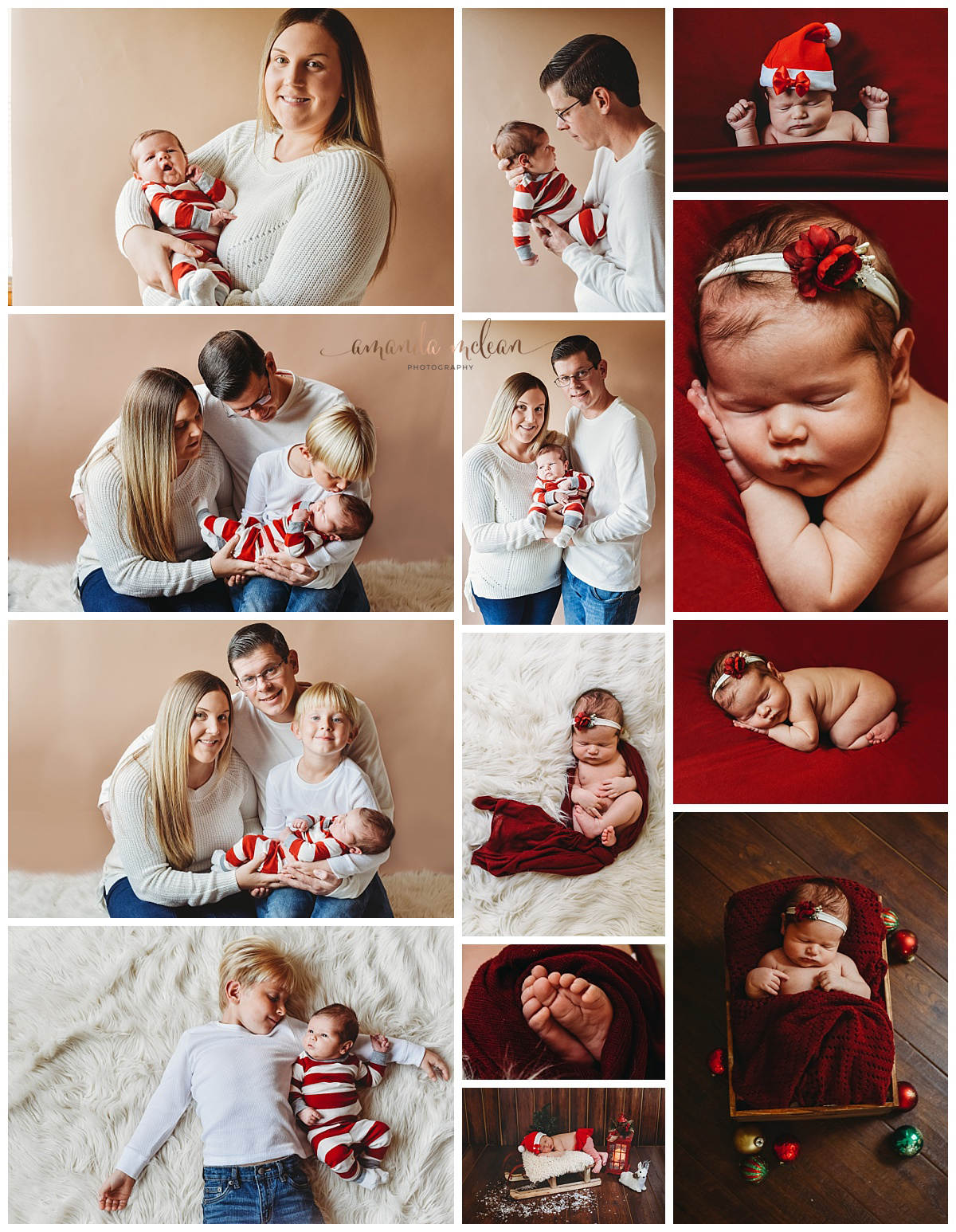 Keepsake $325 - 2 hour session15 images of your choice (color and black and white)At your home or my studiocombination of bean bag and prop imagesFamily photos and detailed shots of babies features1 facebook collage cover1 8x10, 3 5x 7s OR 1 8x 10 and 5 4x6's