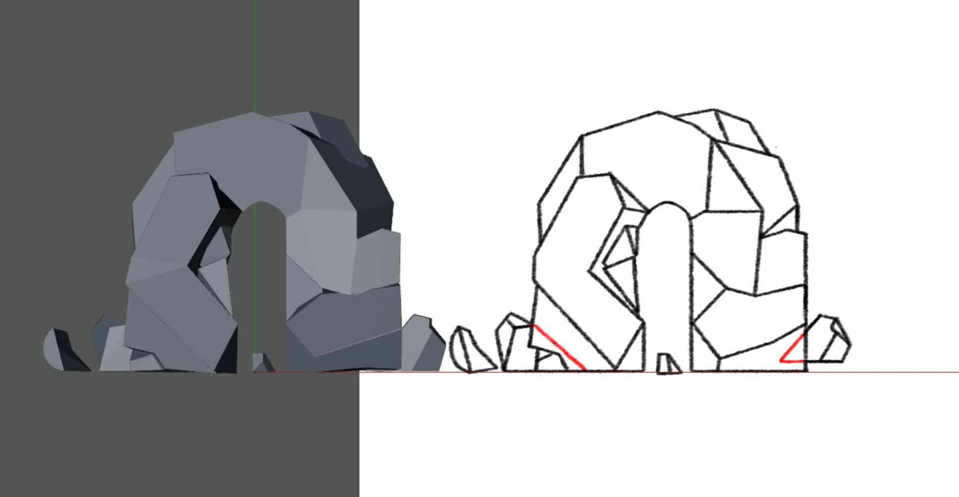 Cut character designs I modeled