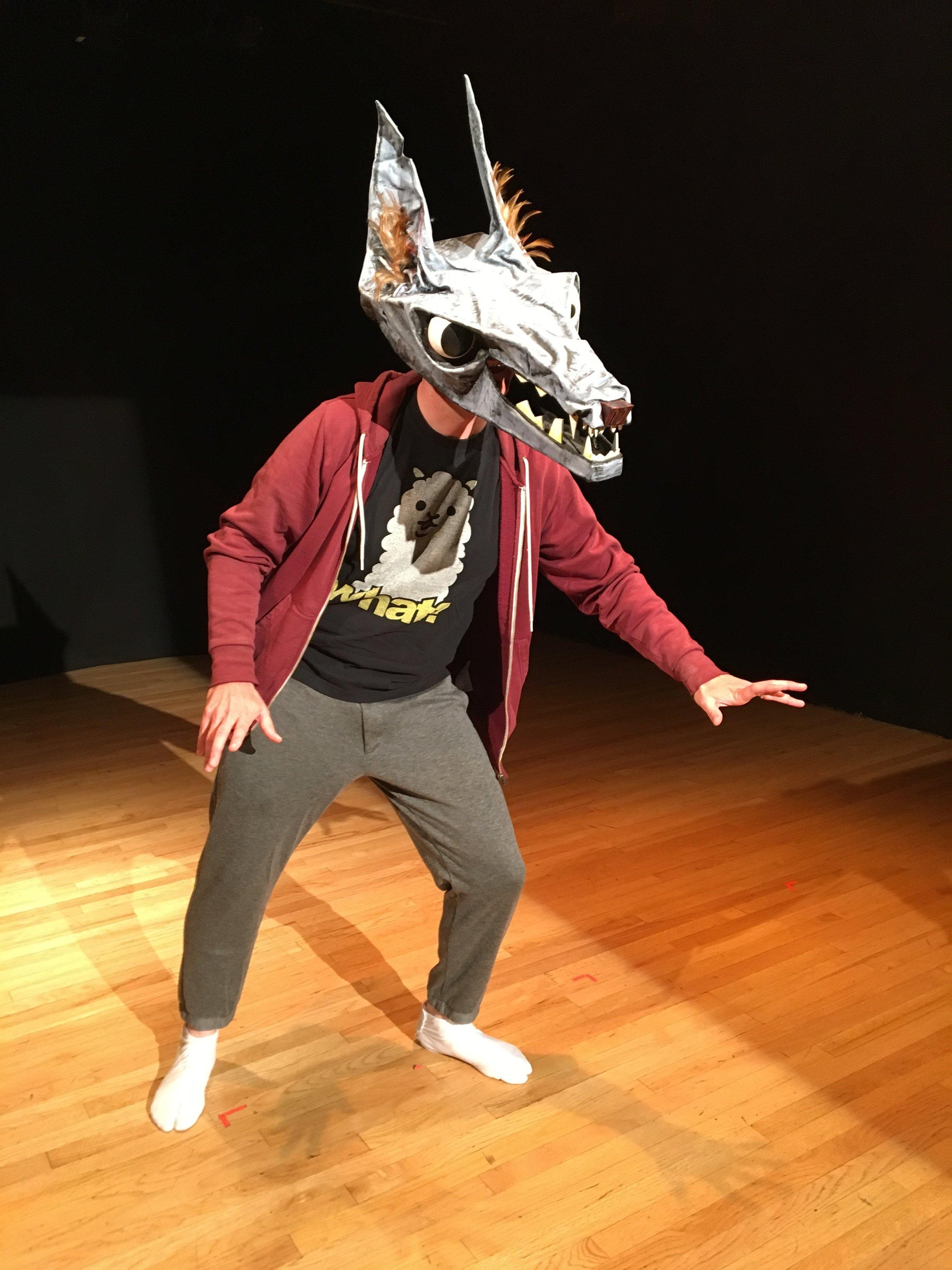 Trebuchets by Moonlight ; writer, performer, director, masks