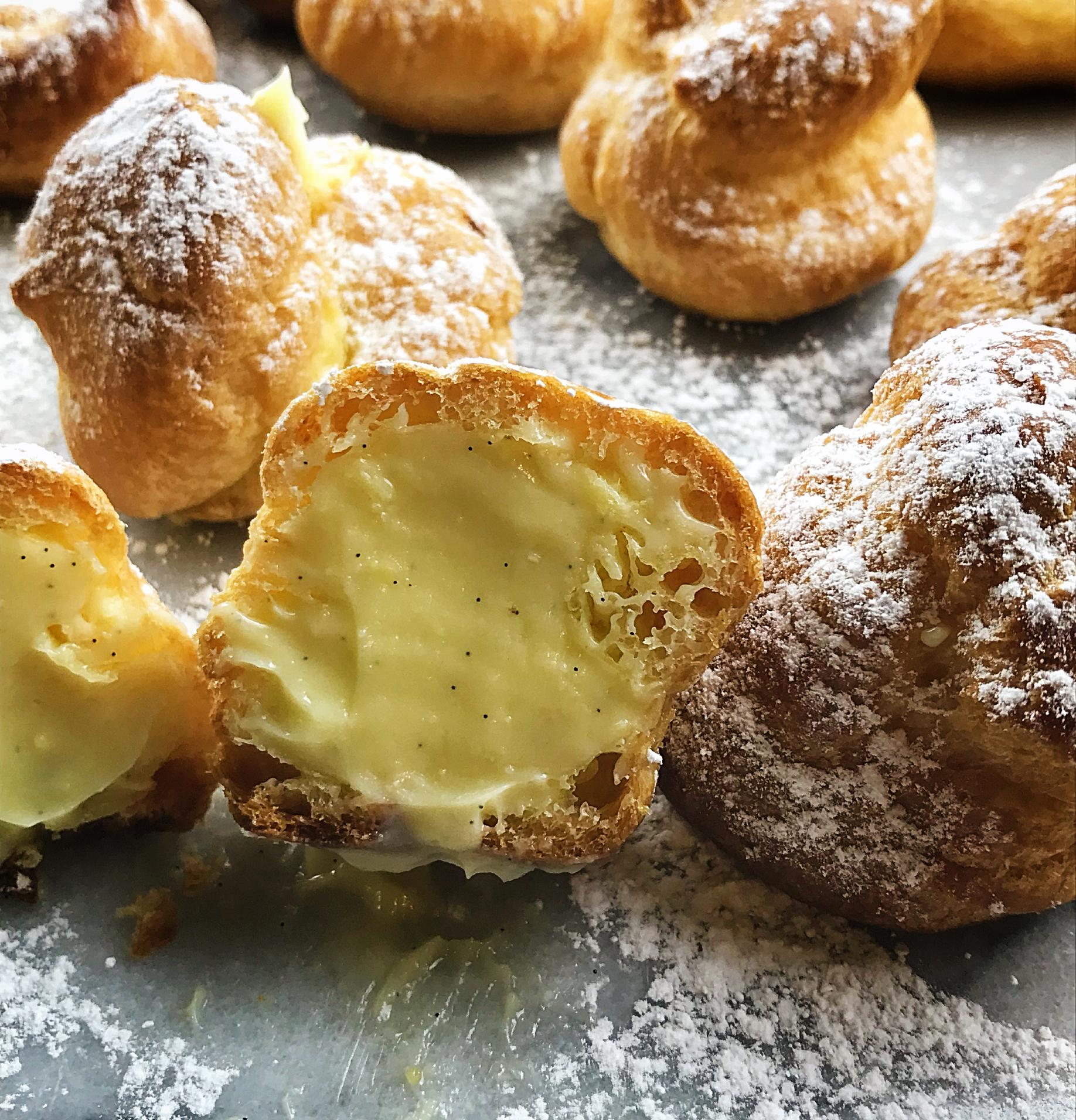 Cream puff with cream.JPG