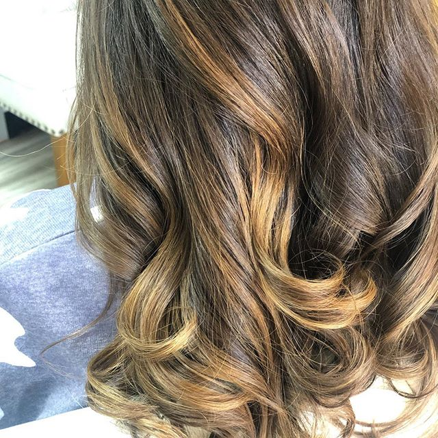 Fresh blow out with curls .. this color was done months ago and still looks fab #haircut #hairstyles #haircolor #vineandbranchsalon #sandiegohair