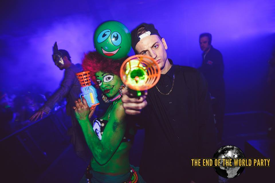 EOTW is always a brilliant party night; this one was made even more so by the presence of 20 or so green  Shotgun aliens running rampant.