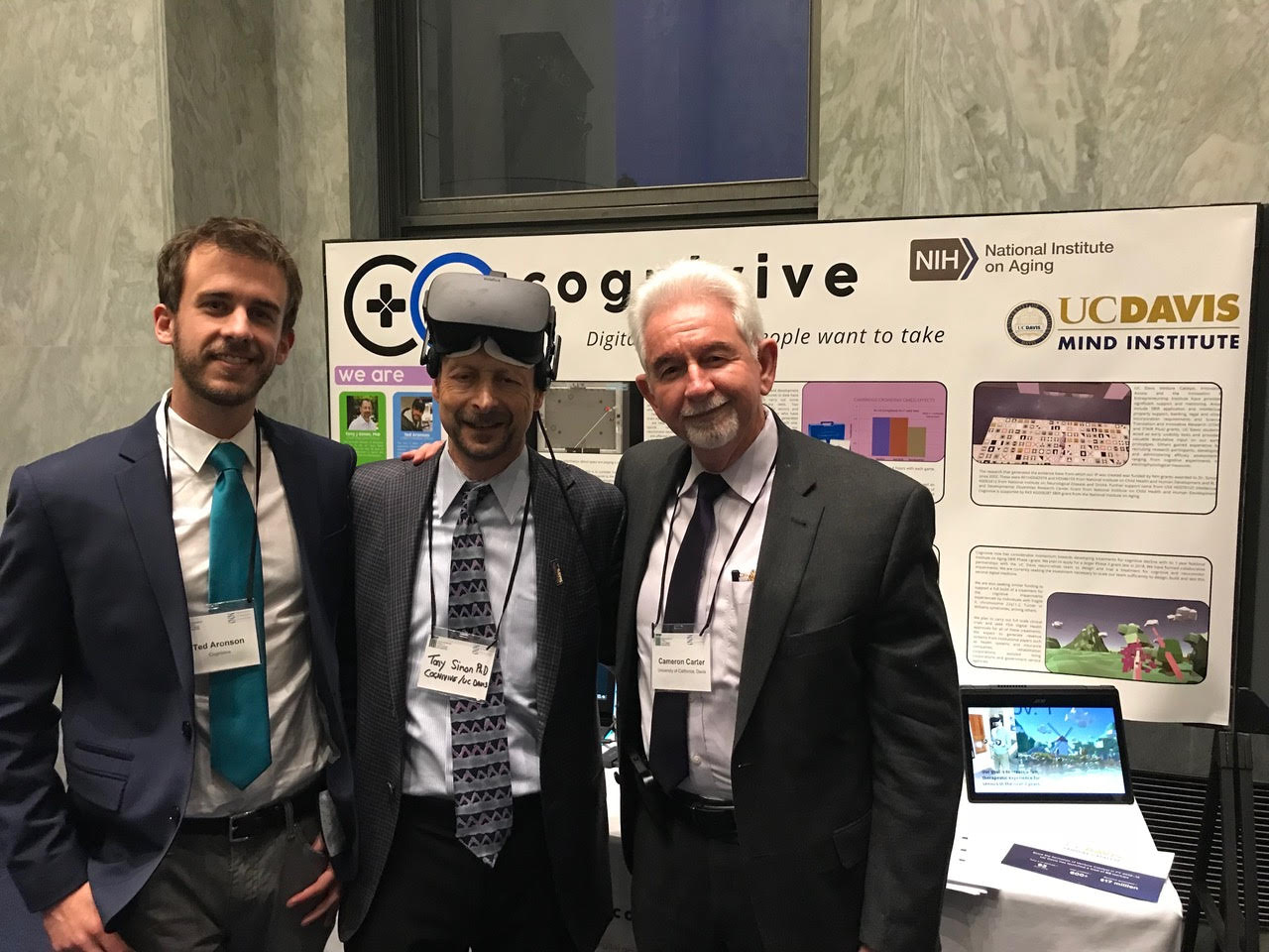 The Cognivive team and UCD Vice Chancellor Cameron Carter at the Rayburn House event