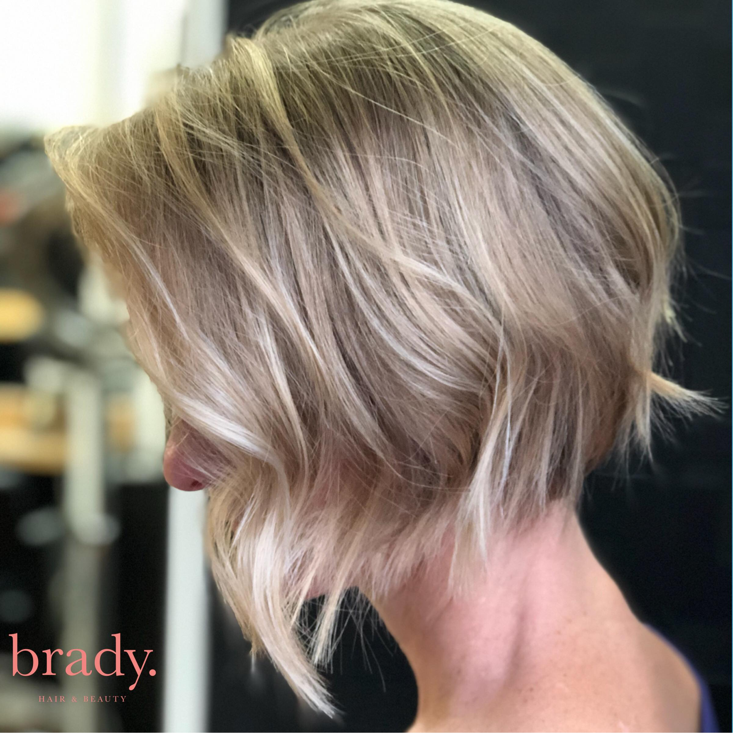 Photo of short haircut styled by Brady. Hair & Beauty, Toowong, Brisbane.