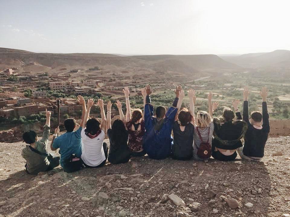 My  Moroccan Geckos Adventures  group in Ait Bendahhou