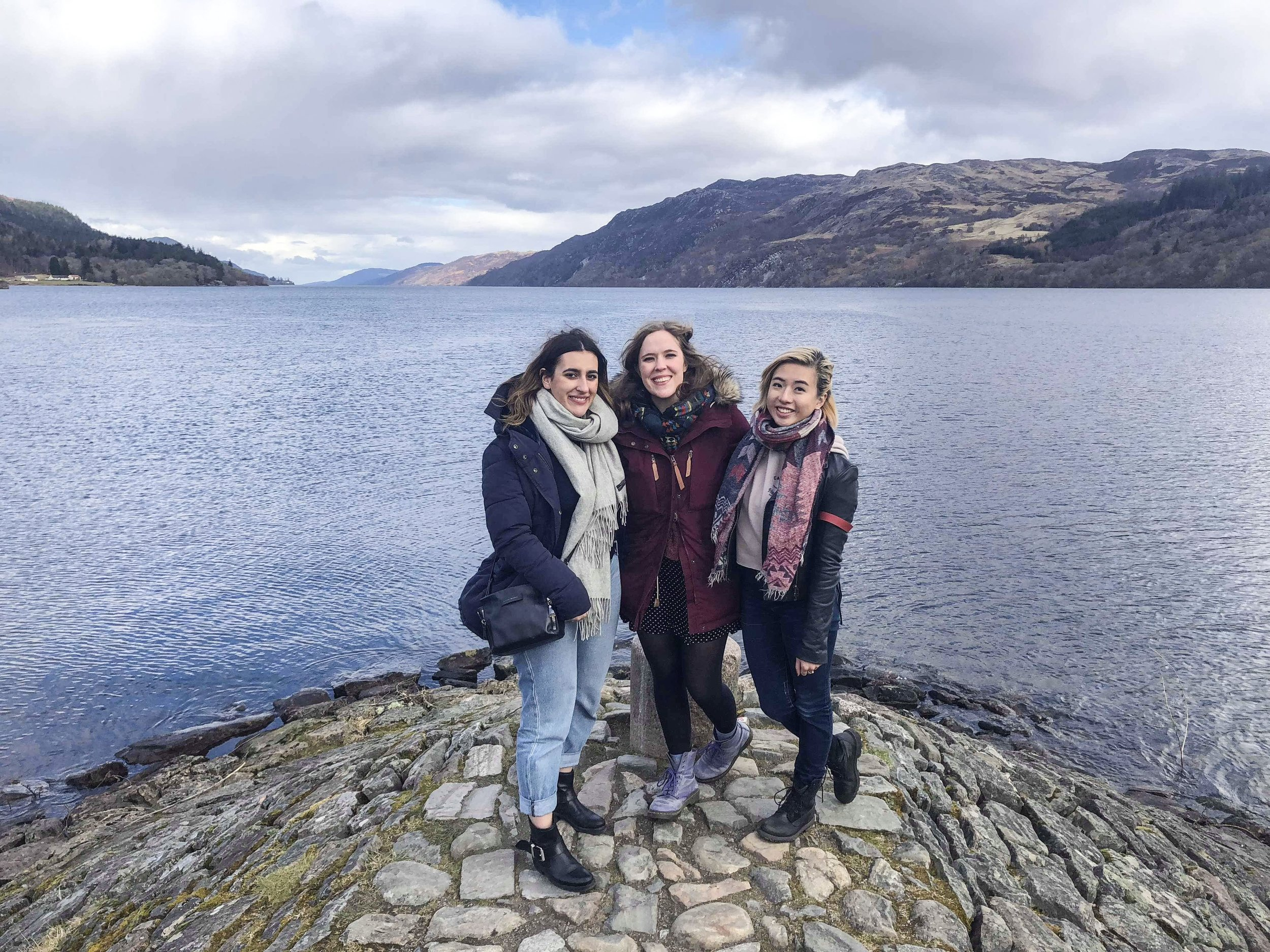 Three uni friends from Sydney travel from the Netherlands, Denmark and London for a weekend in Scotland.