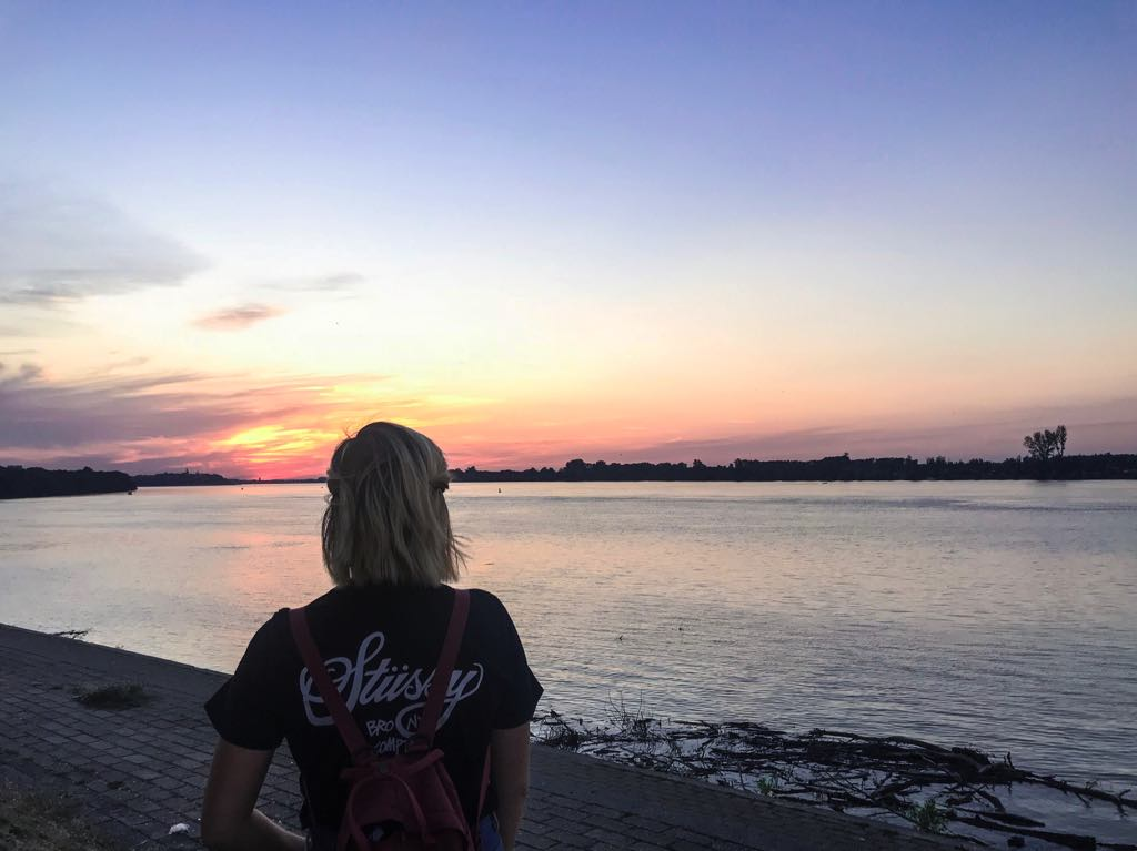 From Bali to Belgrade, I love looking out at a good sunset (and finding someone to  take a photo of me from behind ). This edition features the Danube.