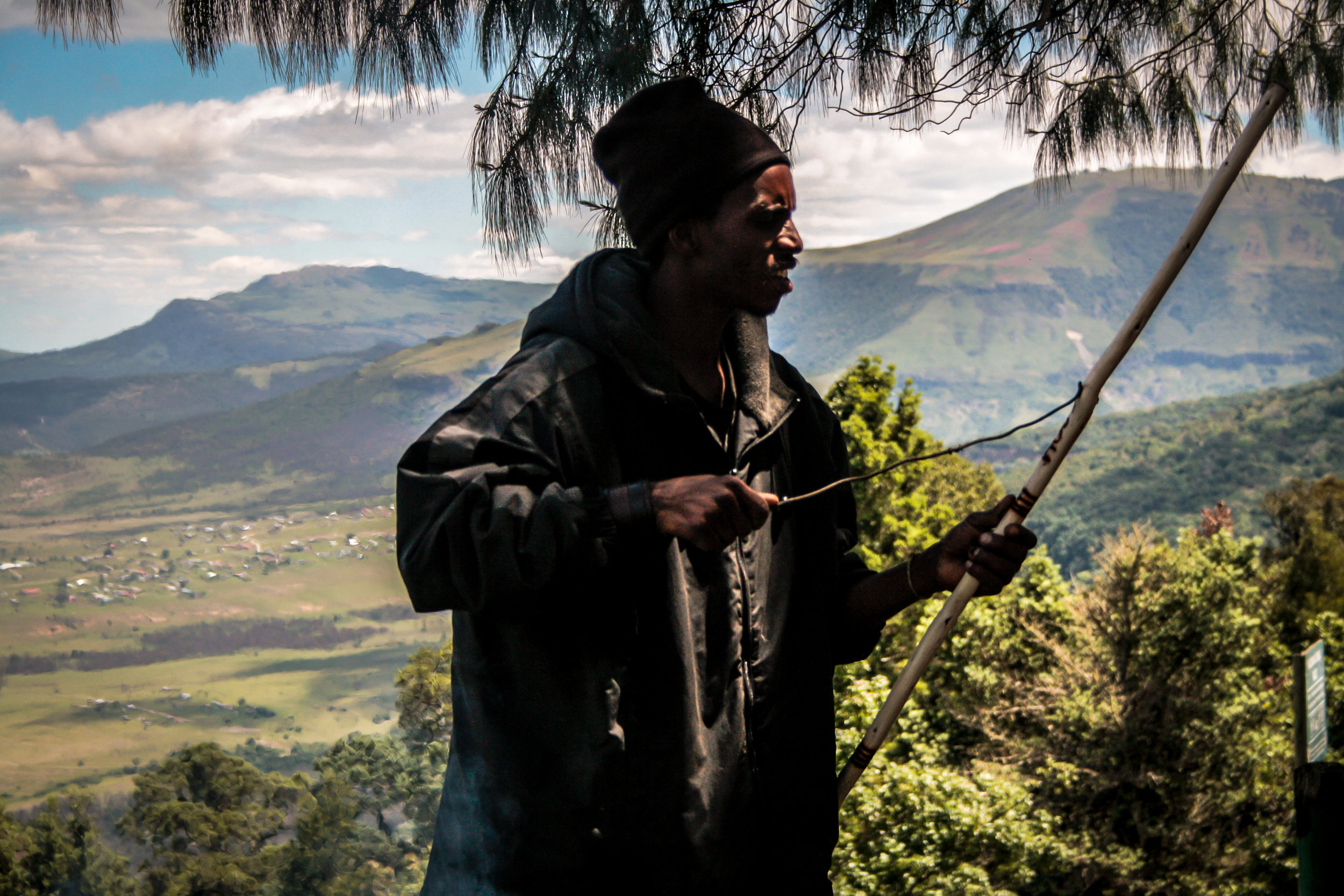south africa 2017   a man earning his money in hogsback.