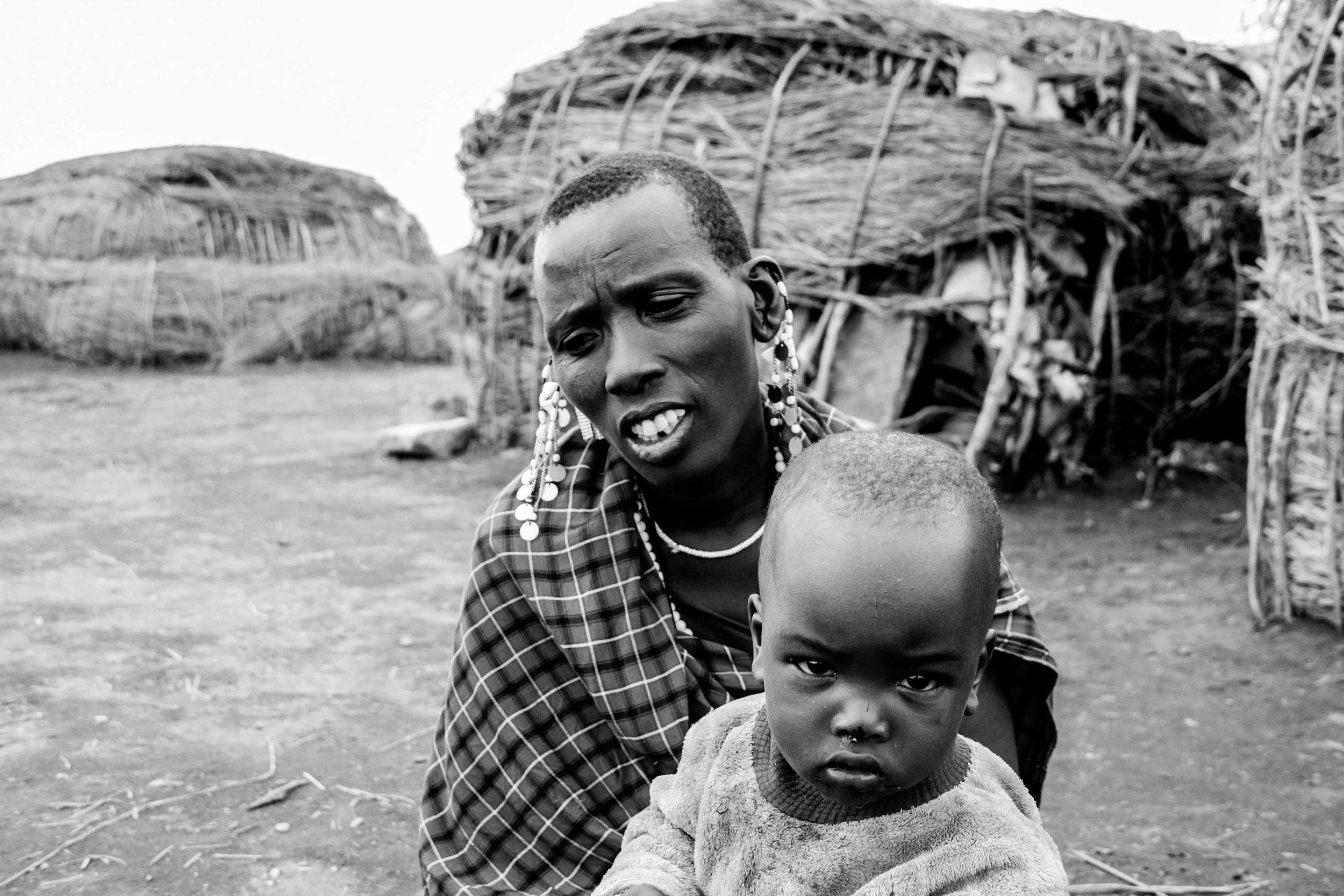 tanzania 2016   a masaai family in their village