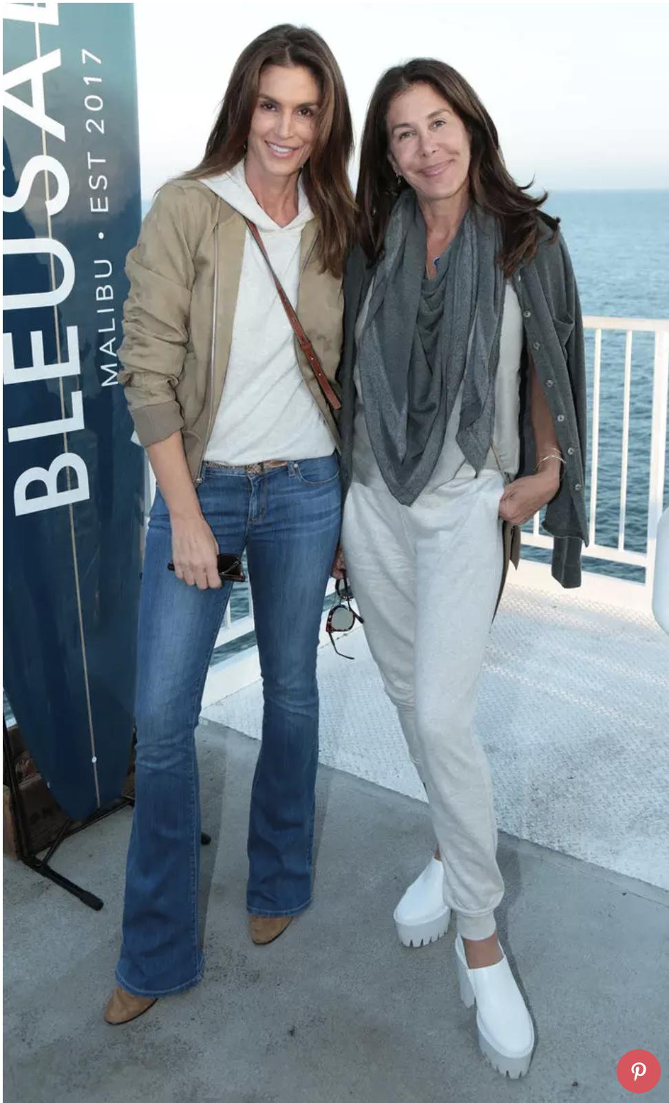 Lyndie Benson and Cindy Crawford. Photo credit:Alex J. Berliner, InStyle