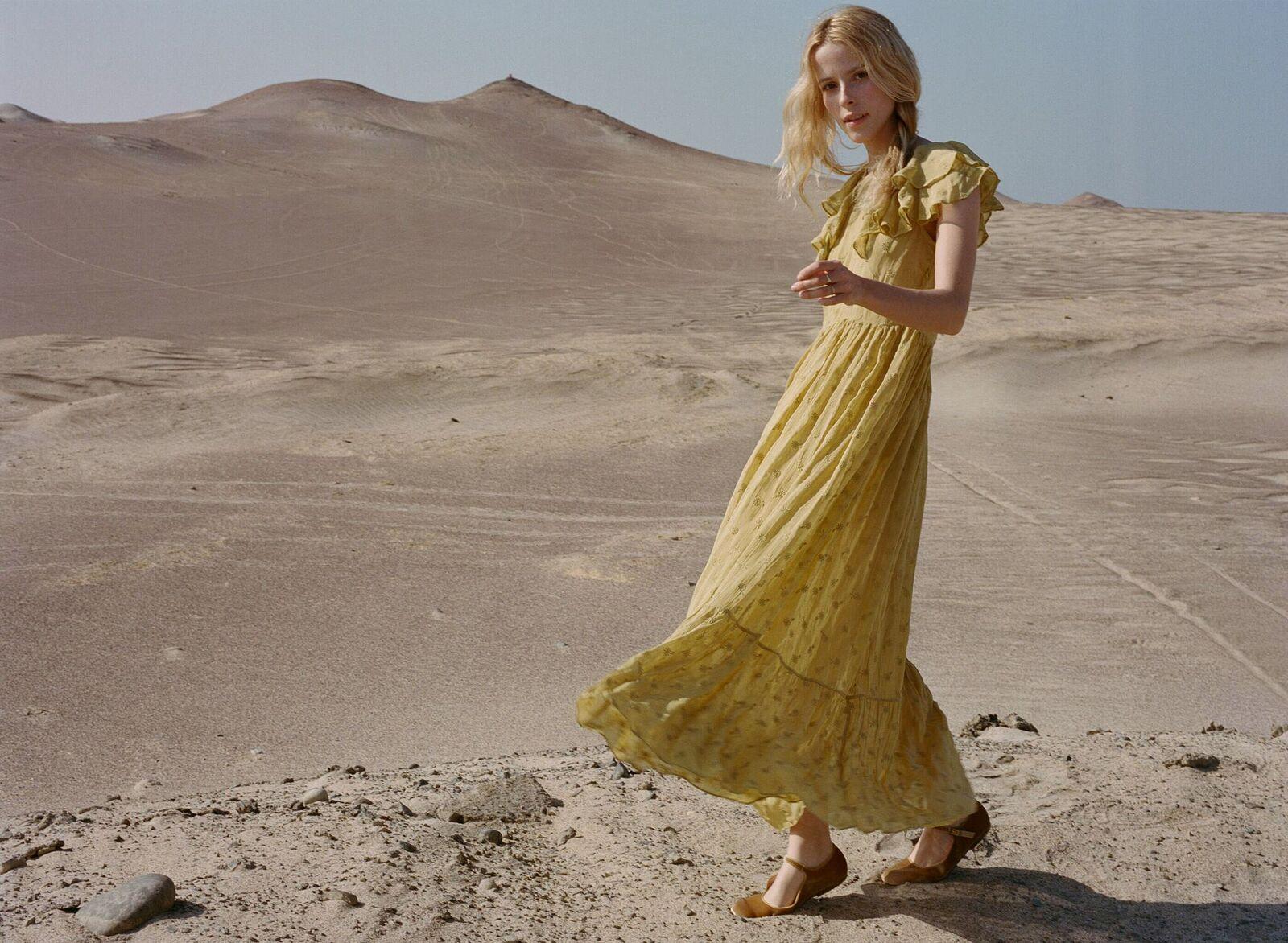 Flora Dress in Ginger