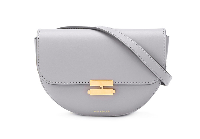 Anna Belt Bag in Concrete Grey Calf Leather
