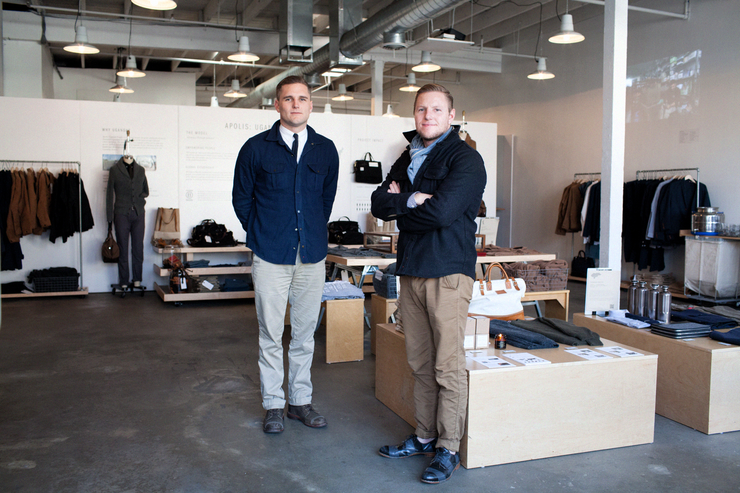 Apolis Founders, and brothers, Raan and Shea Parton  Photo Courtesy:    Common Thread