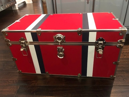 My son's trunk for his dorm room