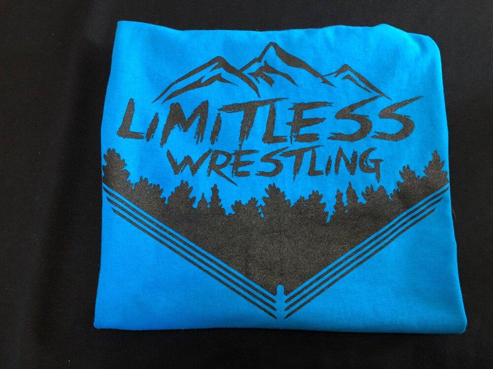 Aqua 4 Year Anniversary T Shirt Limitless Wrestling