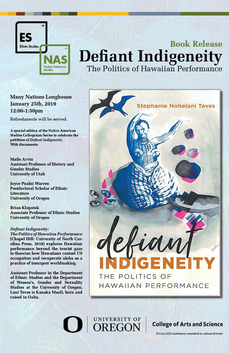 Lani Teves book release - Poster for the ES departments book release event.