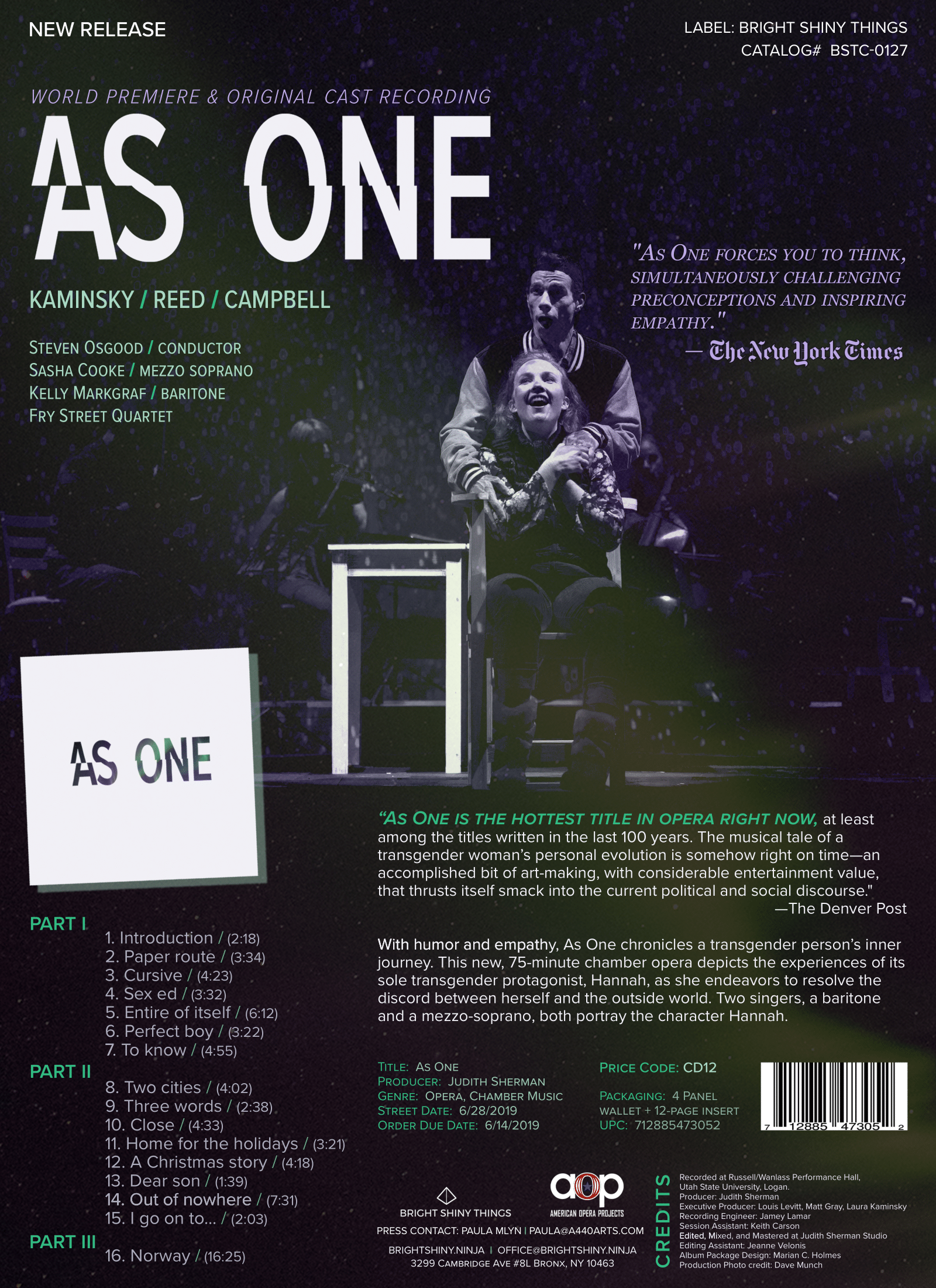 As One  ONE-SHEET