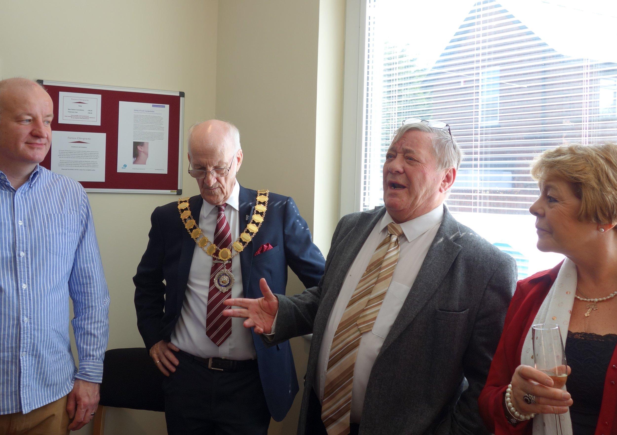 Councillor John Murphy giving his speech at the Official Opening.jpg