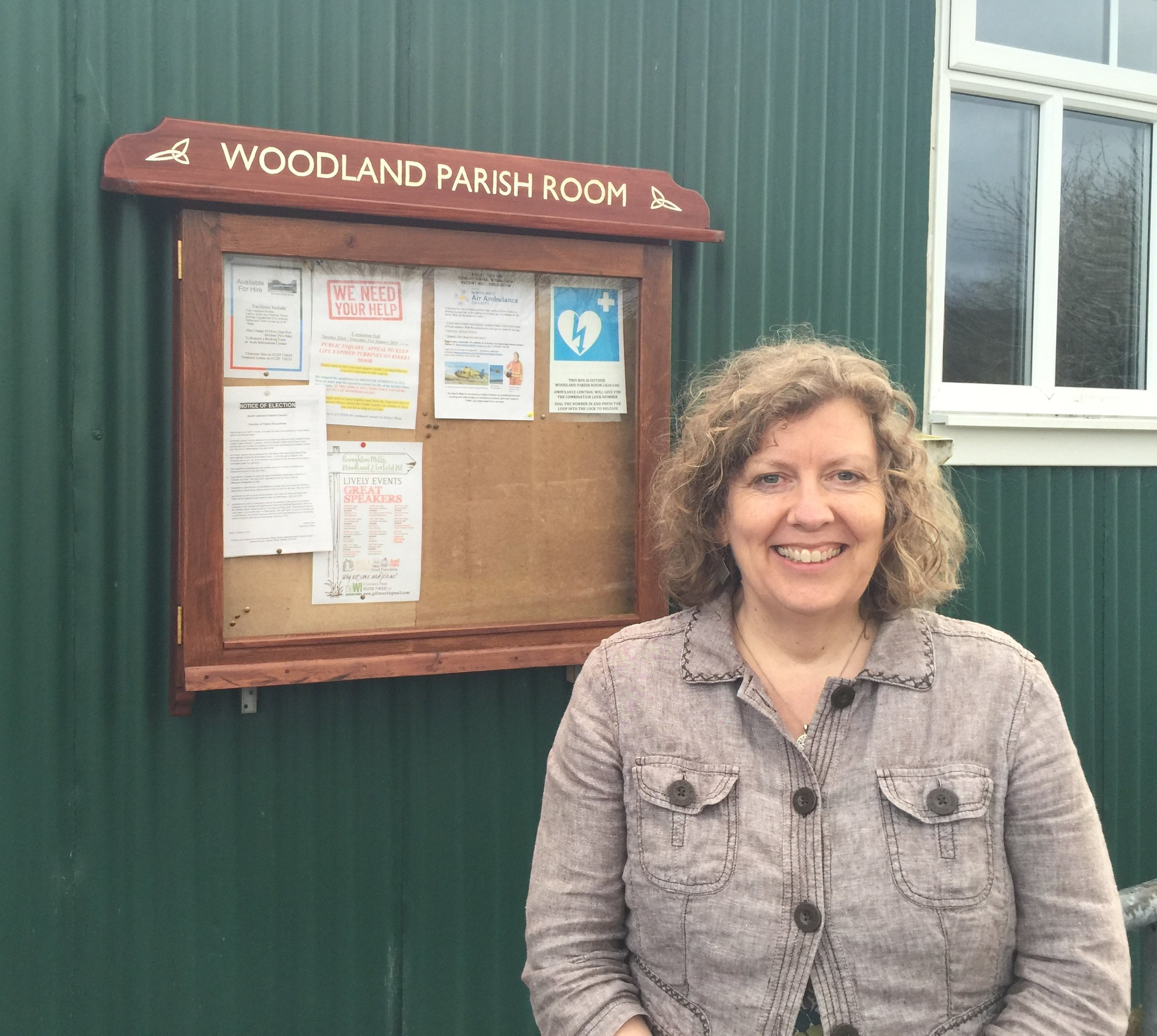 Rachel Wilson outside the Woodland Parish Room.jpg