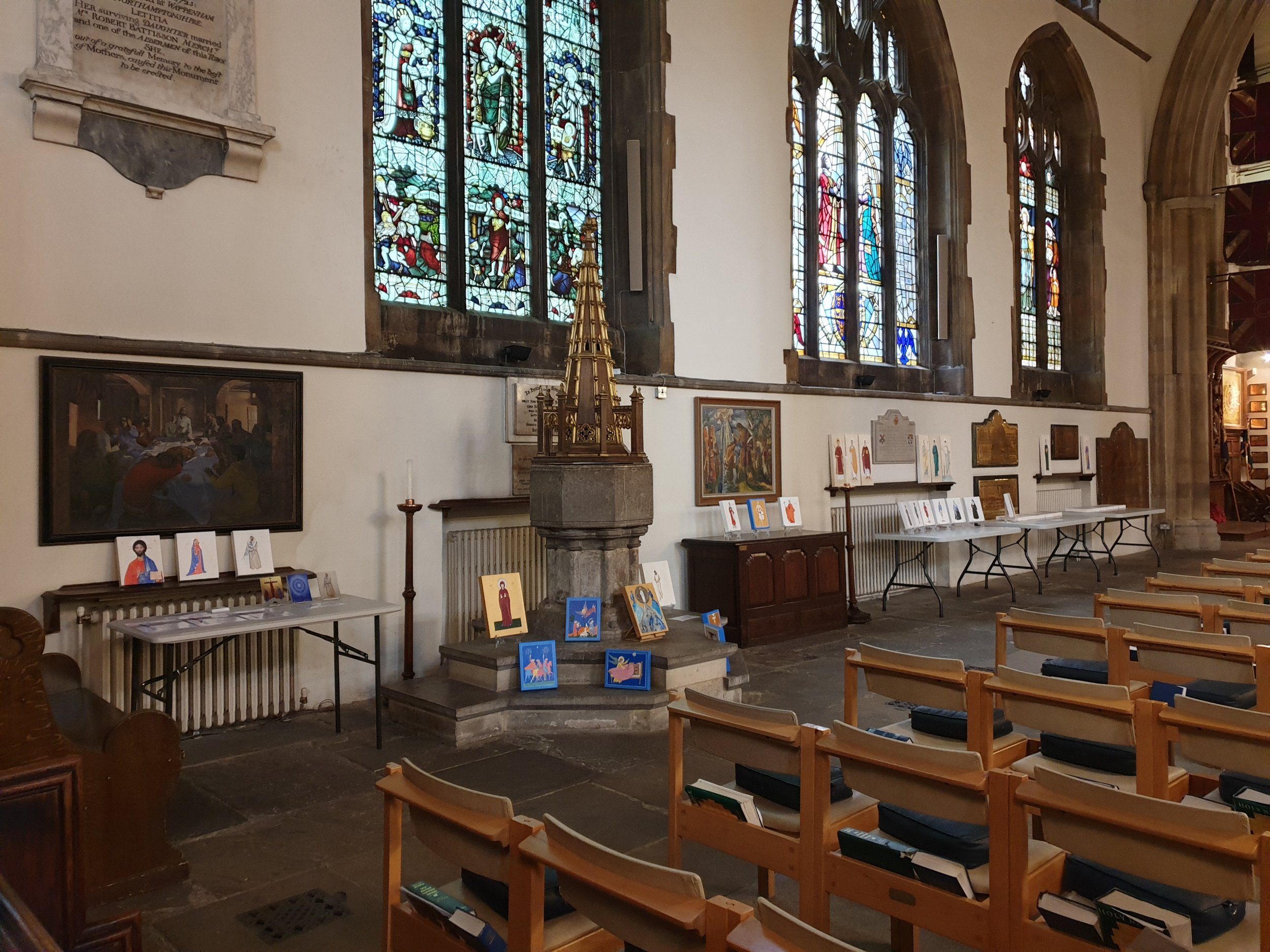 A recent exhibition of Iconismus Icons at St Paul's Church, Bedford.
