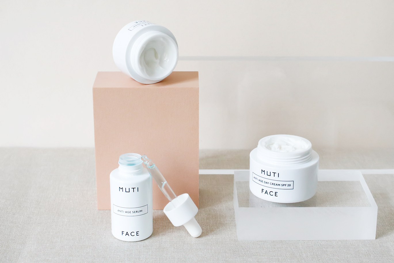 - MUTICreative Direction. Art Direction. Photography.MUTI offers a reduced and clear product range of high-quality and very gentle unisex skincare essentials for the daily care routine. Their philosophy is the beauty of simplicity — concentrating on highly effective ingredients, smart product lines & clean design.