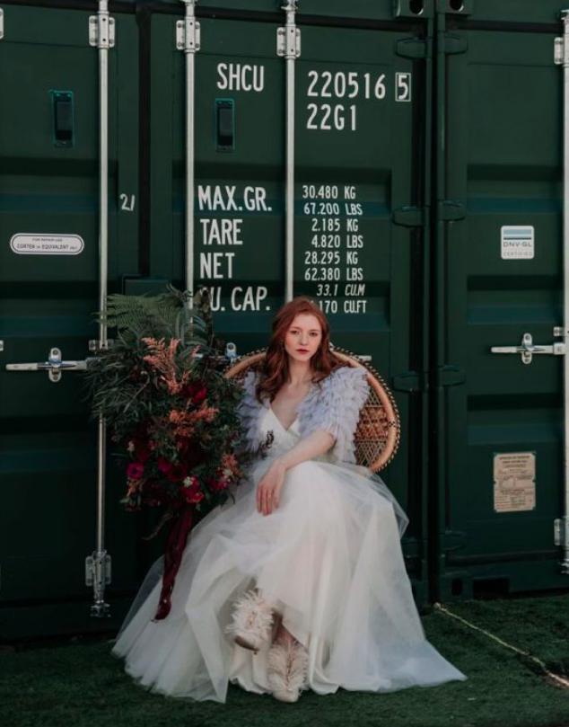 Industrial Wedding Shoot- Magpie Wedding