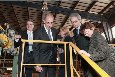 Visit of HE Mattiolo ambassador of Italy in Israel to Cunial Antonio Israel Factory - 2011