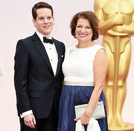 Susan Sher with her Oscar winning son Graham Moore