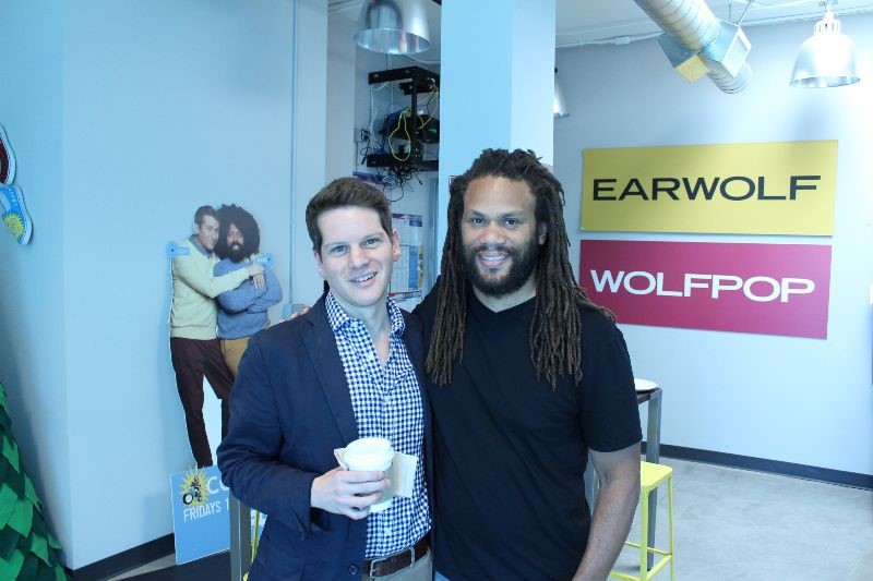 FRANKLIN LEONARD WITH SUSAN SHER'S SON - GRAHAM MOORE. -