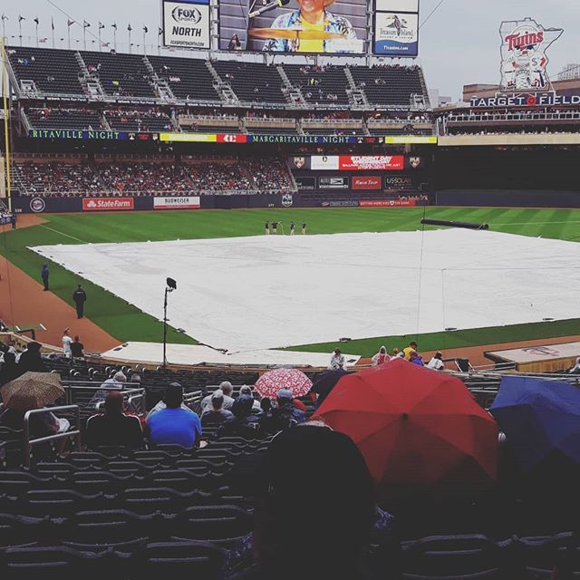 Cloudy with a chance of baseball. Did I mention its margaritaville night! #jimmybuffet #margaritaville #twinspics #twins #mntwins #twinswin #mn
