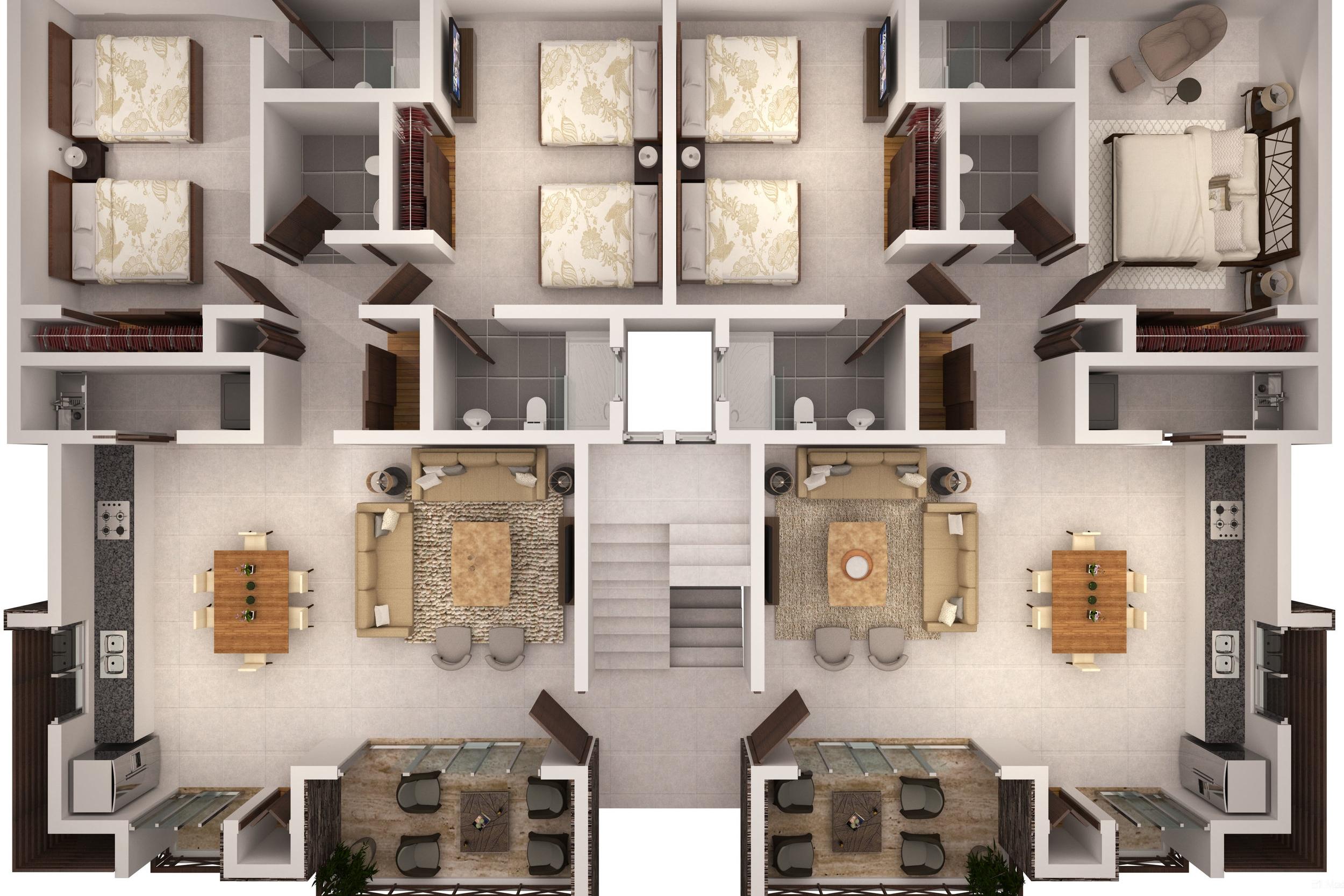 Planta Bloque 2 apartments for sale las terrenas Saman Lista.jpg