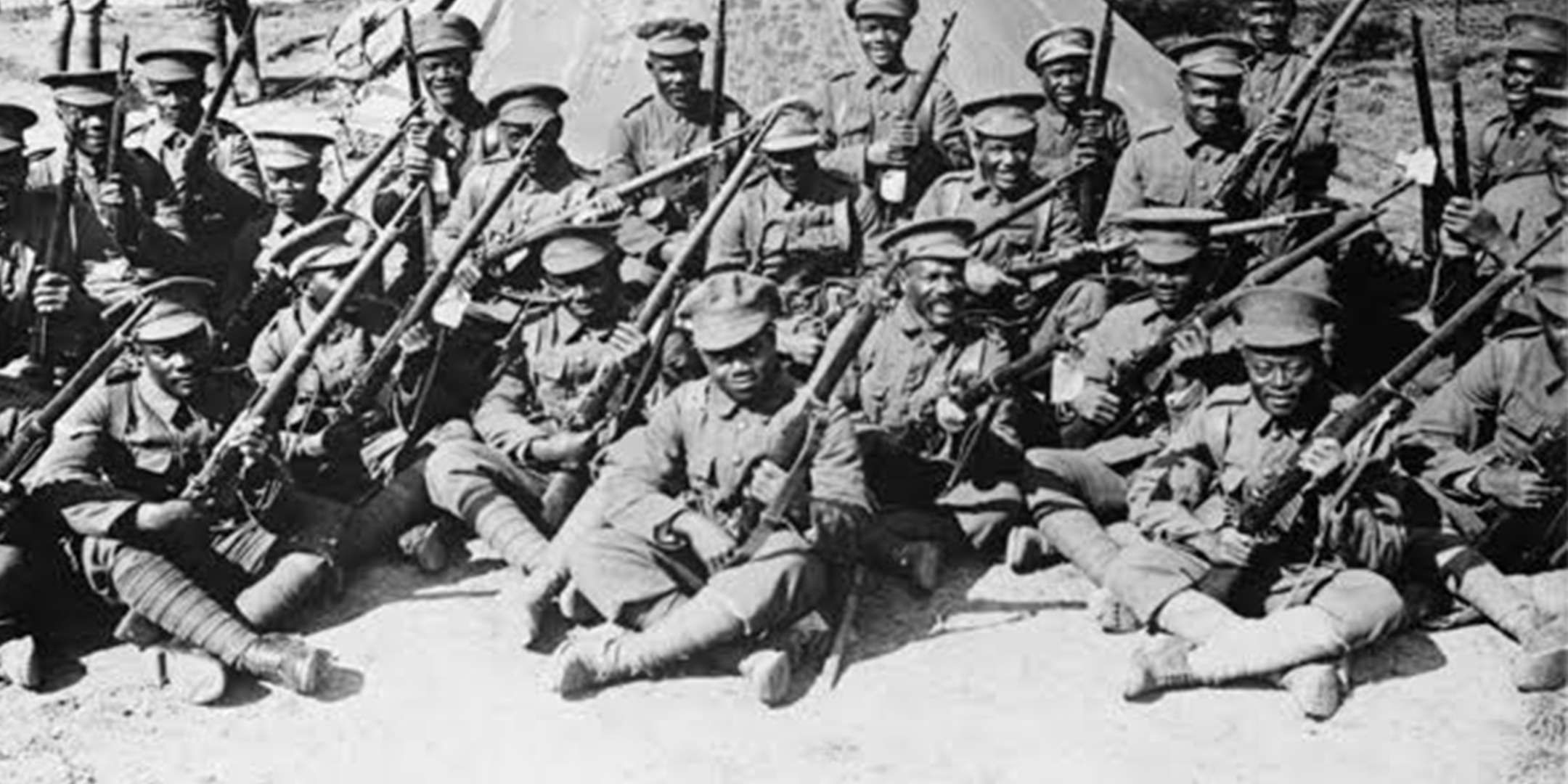 British West Indian Regiment in Egypt WW1. Credit: The Imperial War Museum.