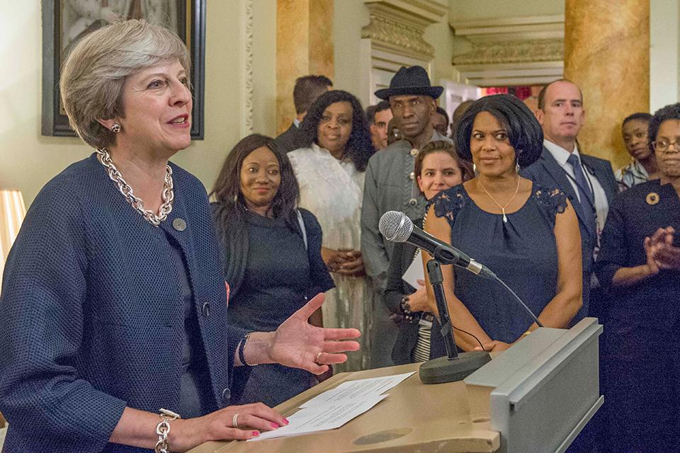 Prime Minister Theresa May awards BCA Chair, Dawn Hill the Points of Light award at No. 10