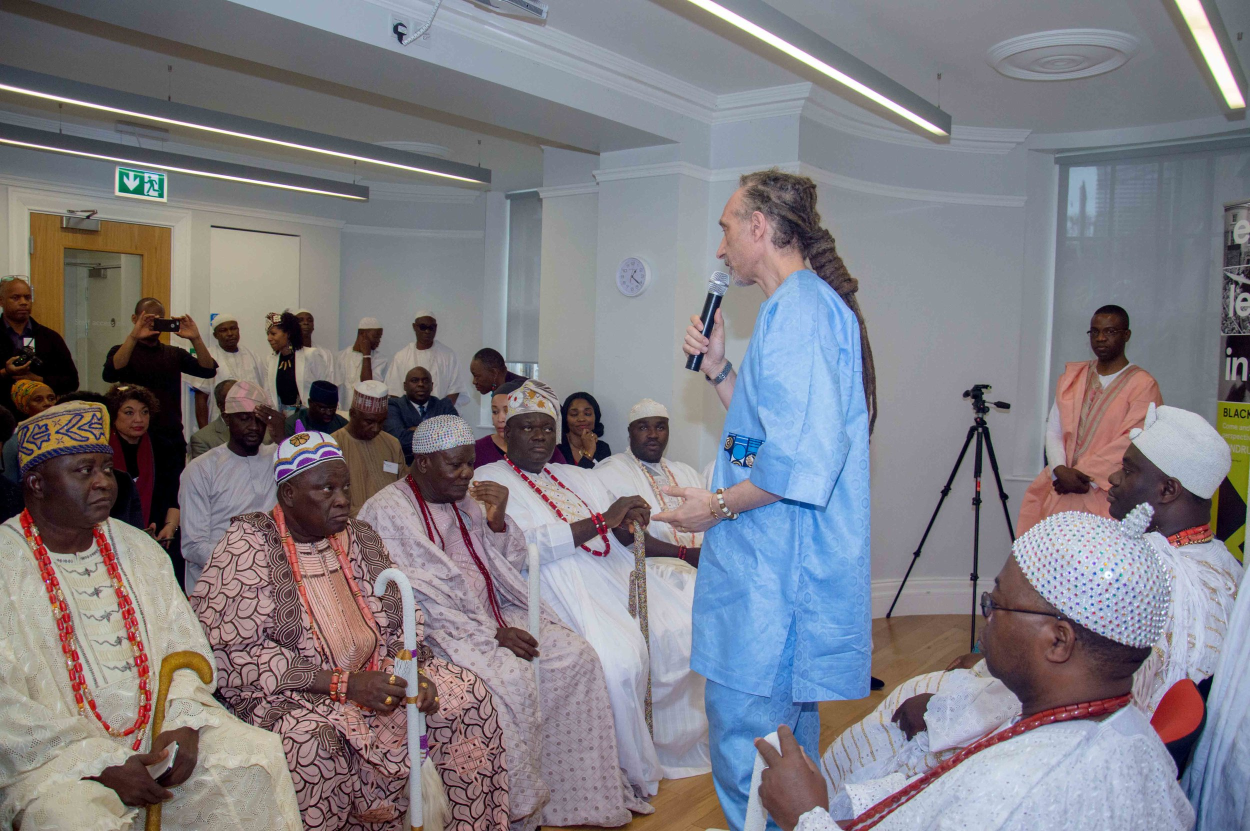 The Ooni of Ife visit to Black Cultural Archives