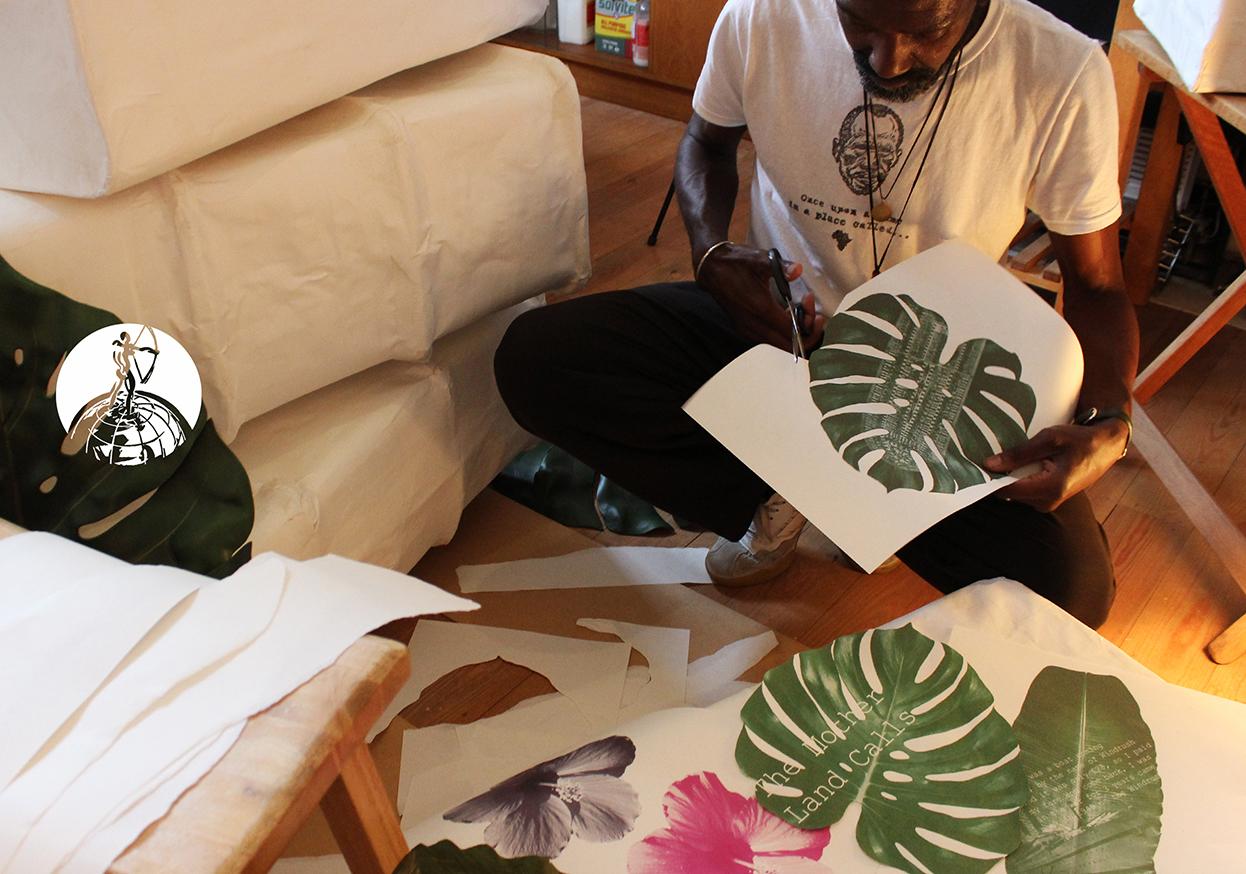 'Bitter Sweet Arrivals   ©Alvin Kofi – Kofi Arts (2018)   Hand constructed,  papier-mâché  , mixed media, suitcase installation