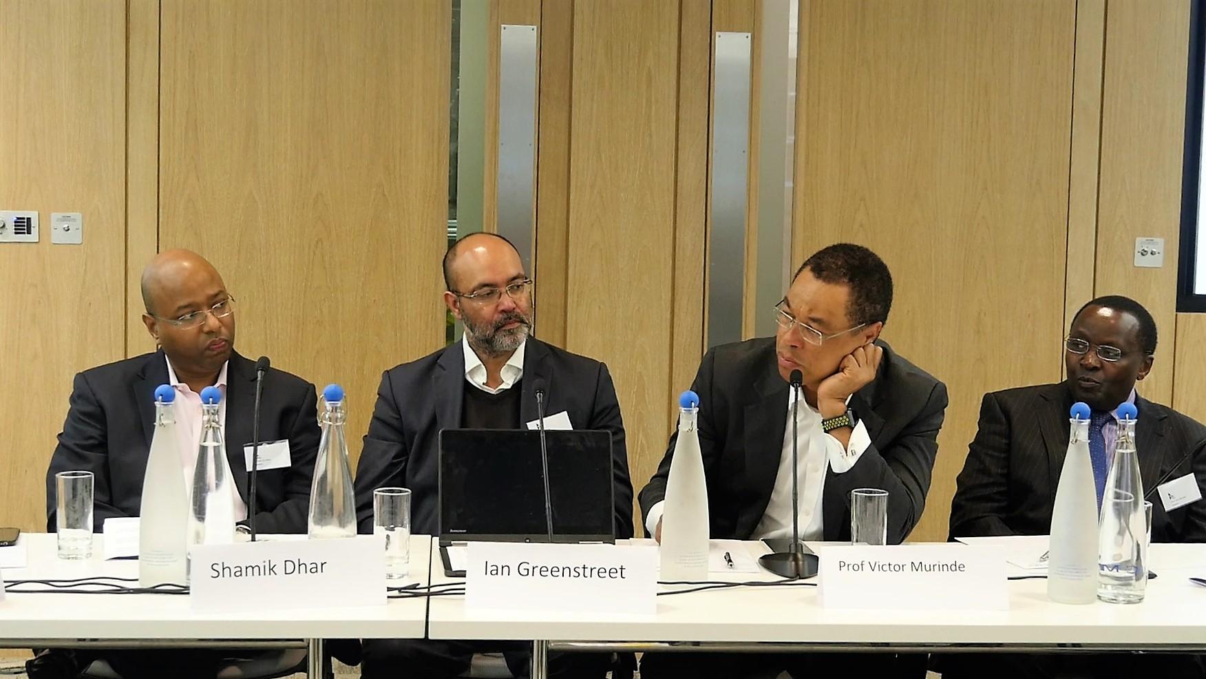 (l:r) Shamik Dhar, Ian Greenstreet, Prof. Victor Murinde