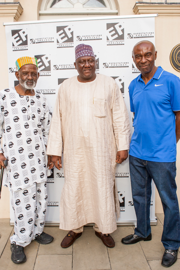 James Barnor, His Royal Highness Shah Usman Yamusa and Neil Kenlock