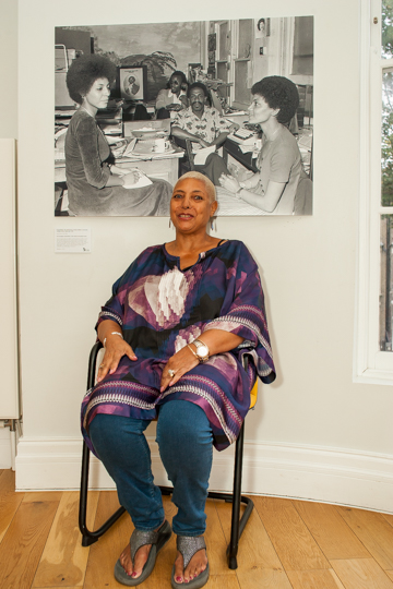 Leila Howe - beside her photograph