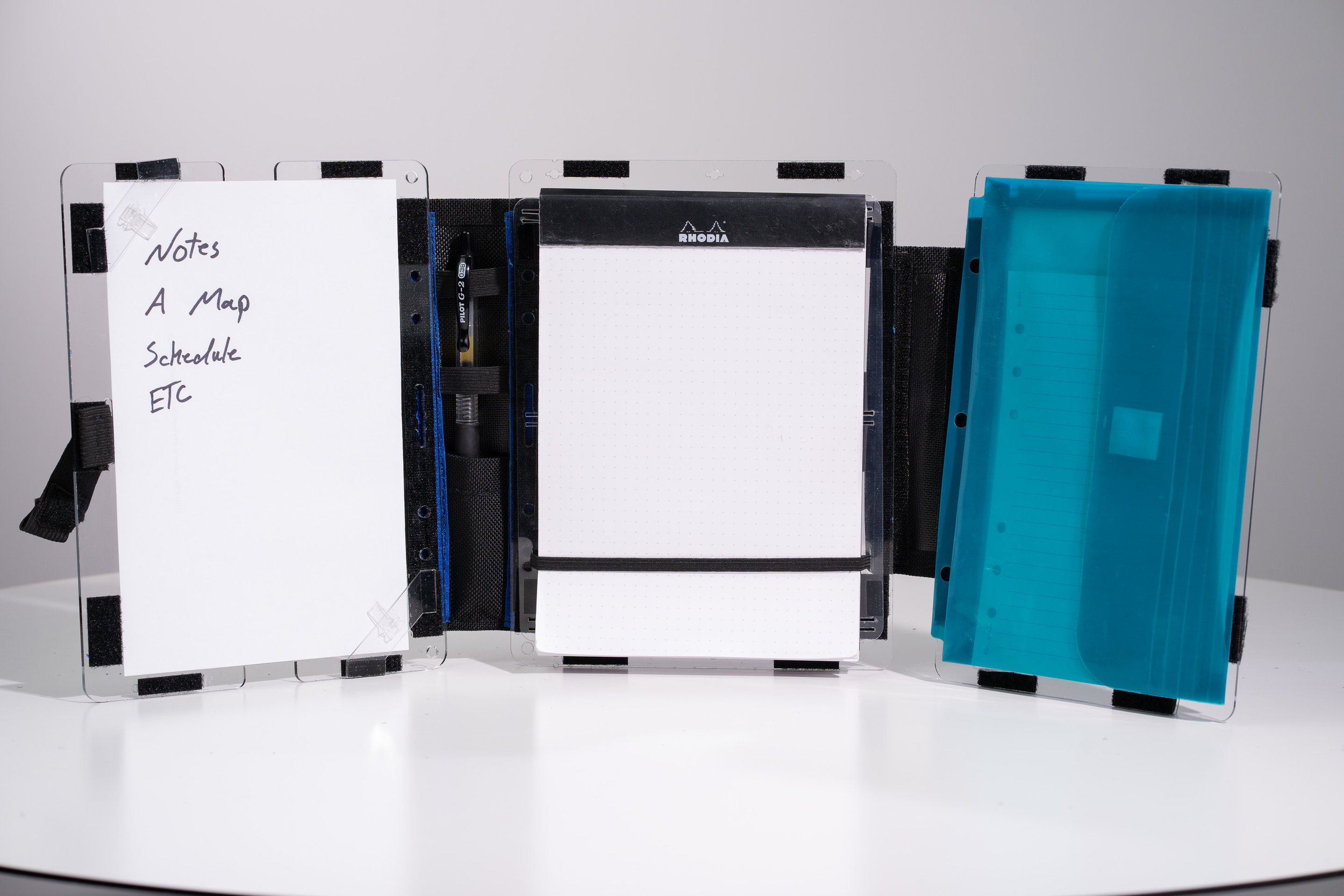 Half Size MultiBoard with legal pad holder and trifold addition