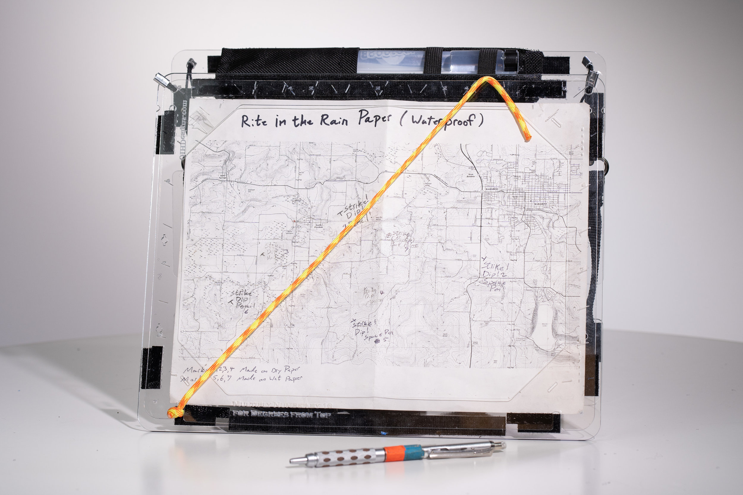 "Accessories: Showing the ""Emergency Protractor"" in use on a Full Size MultiBoard"