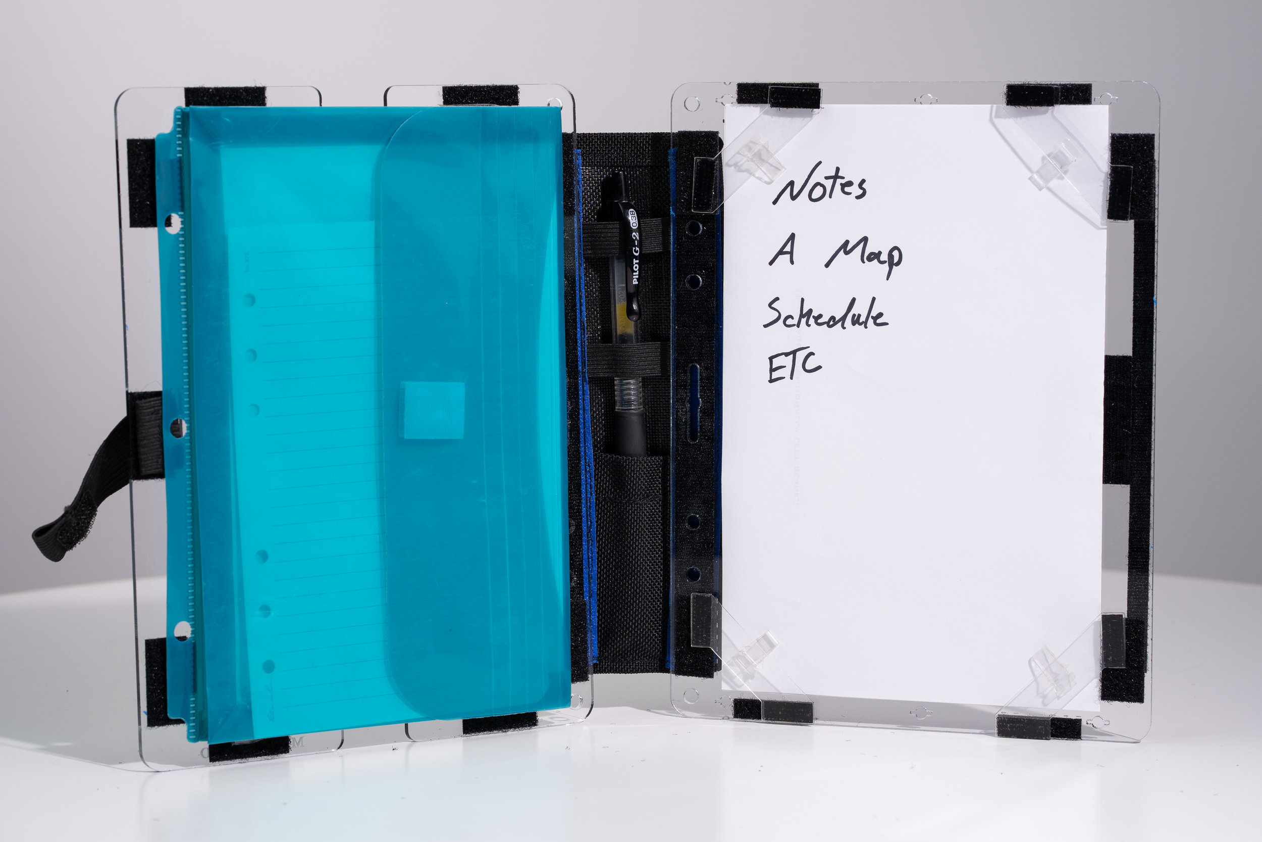 Above: A half-size binder pocket in a half-size MultiBoard.