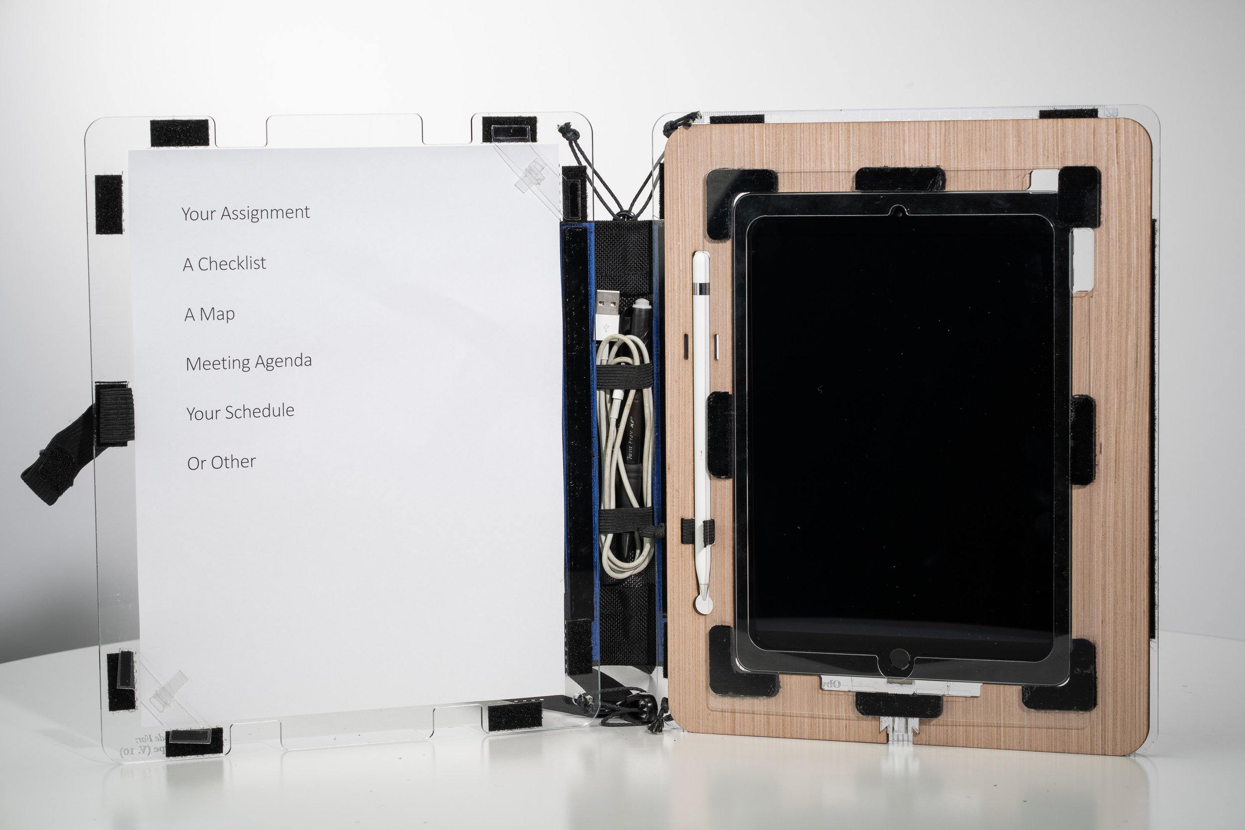 Full size shown with optional iPad insert