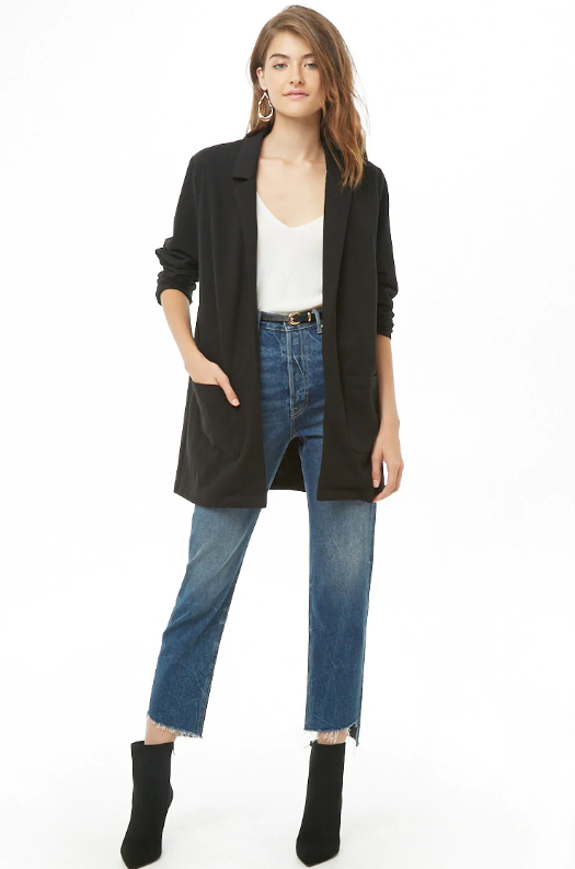 Forever 21 Notched Collar Blazer, $24.99